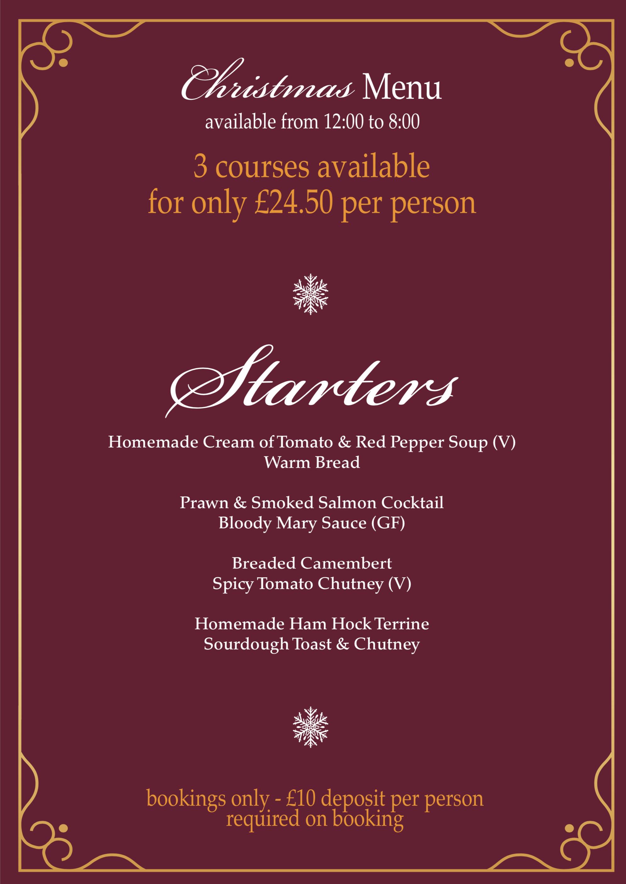 Christmas Buffet Menus.The Minerva Pub In Hull East Yorkshire Real Ale Cooked